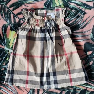 BURBERRY Baby Plaid Dress Size 6 Months NEW